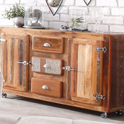 sideboard 39 fridge 39 made of recycled wood. Black Bedroom Furniture Sets. Home Design Ideas