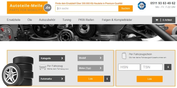 Autoteile-meile.de for car parts from Germany