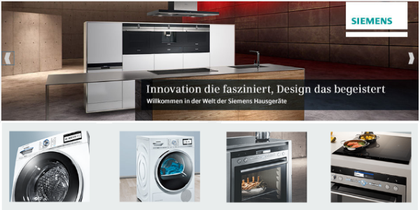 Siemens Household Appliances at Saturn.de
