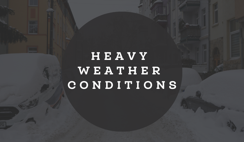 Emergency operation due to extraordinary weather conditions